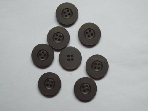 8pc 20mm Seaweed Green Matt Finish 4 Hole Button 1381