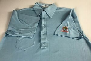 Orange-Tree-Polo-Shirt-VTG-Mens-SZ-M-L-Pickering-Blue-Golf-Club-Front-Pocket