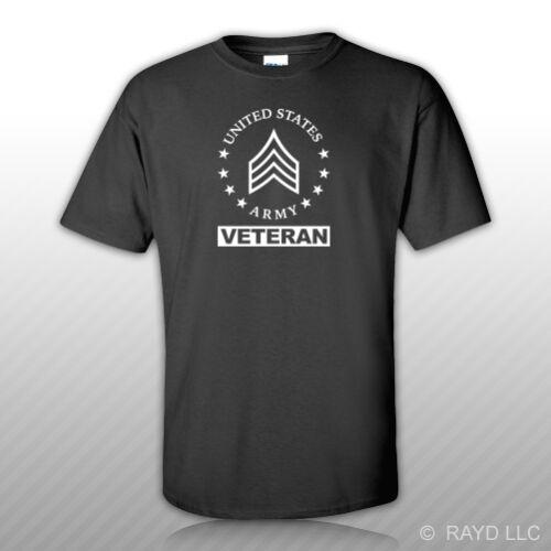 E-5 Sergeant Veteran Us Army Rank T-Shirt Masswerks Store