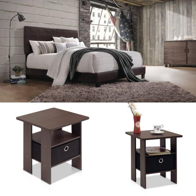 Queen Bedroom Furniture Set With 2 Nightstands Bed Frame Solid Wood Brown 3pc For Sale Online Ebay