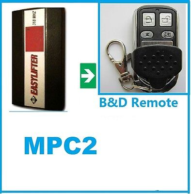 2 X B Amp D Easylifter 318 Garage Door Remote Control Bnd