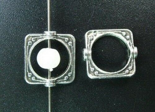 100PCS Tibetan Silver crafted square bead frame FC5149