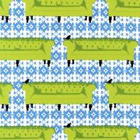 1yd Tufted Tweets Furniture Sofas Bird Grass Lime Green L Wisbrun Kaufman