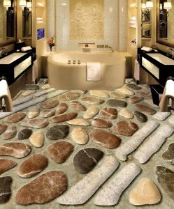 3D White Stone Pattern 9 Floor WallPaper Murals Wall Print Decal AJ WALLPAPER US