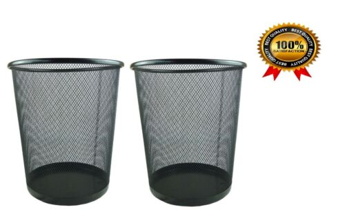 METAL MESH WASTE PAPER BIN FOR OFFICE HOME USE BEDROOM LIGHTWEIGHT AND STURDY