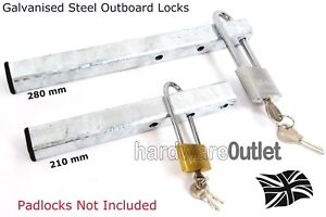 Outboard Engine Security Lock 280mm GALVANISED STEEL Fishing Boat Dingy Yacht