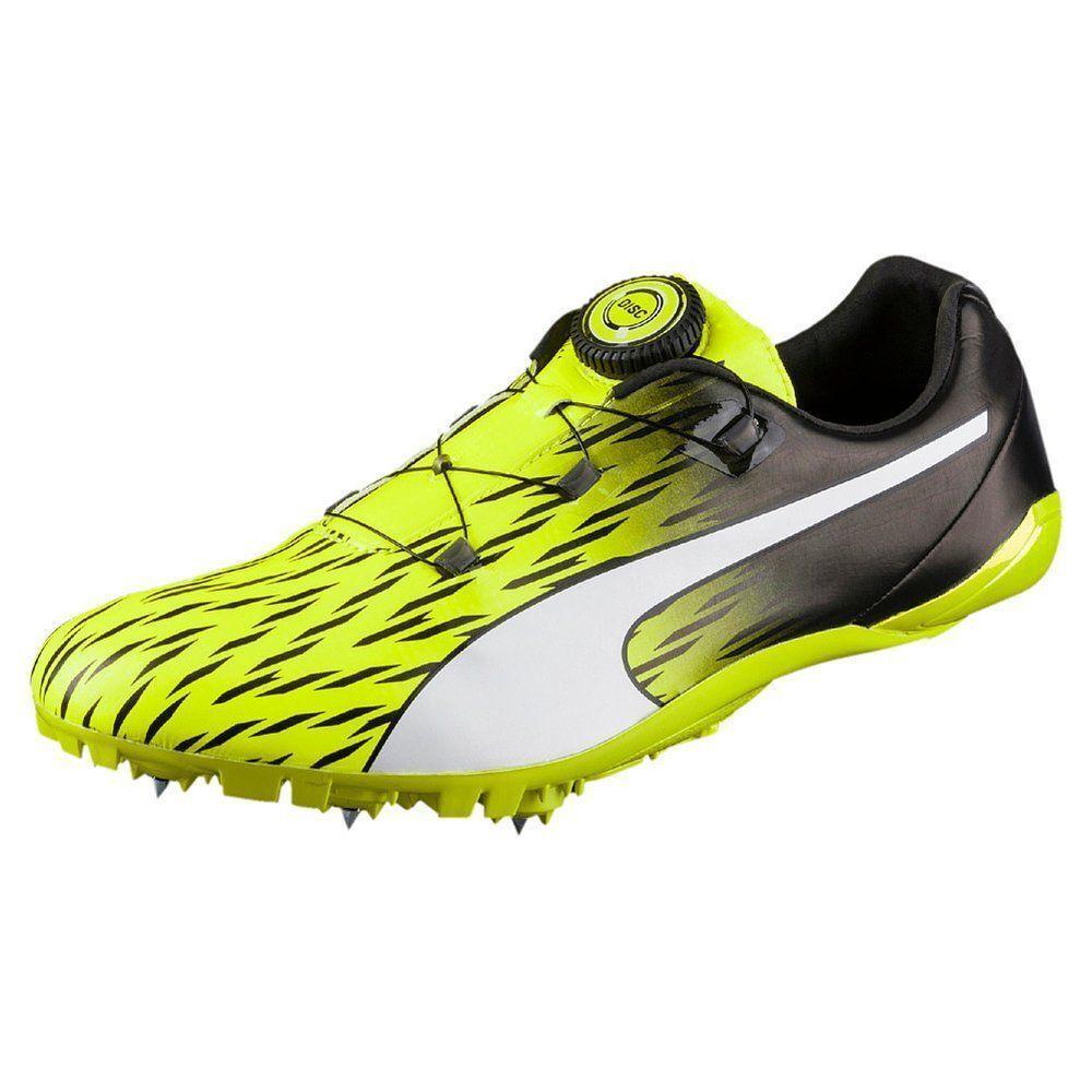 Puma Evospeed Disc 3 Spikeschuhe Erwachsene Sprintschuh Laufschuh yellow black