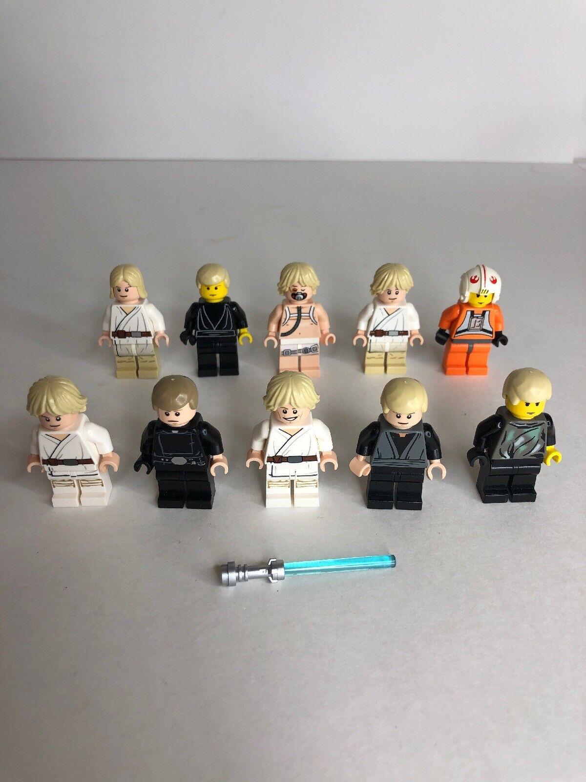 Lego Star Wars 10 MINIFIGUREs Luke Skywalker Lot 7128 Pilot 75059 75005 X2