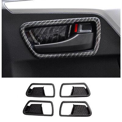 4*For Toyota RAV4 2016-2018 Carbon Fiber Inner Door Bowl Decorative Cover Trim