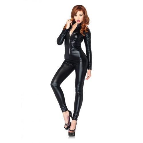 Leg Tenue Effet De Noir L Pantalon Taille Combinaison Mouillé Avenue Soirée z7nzqrx1