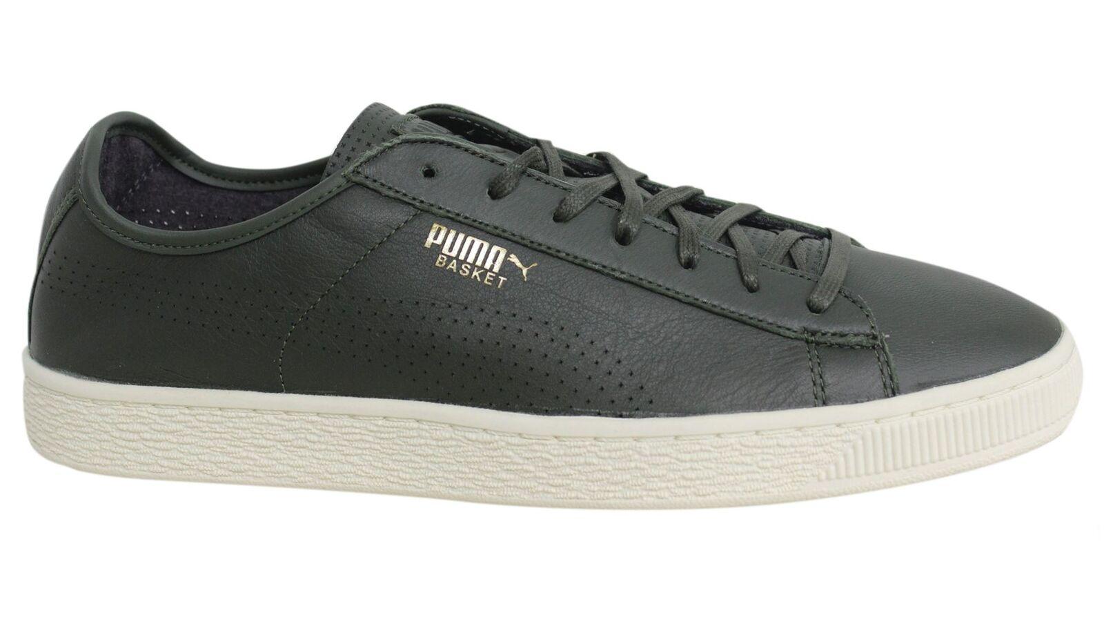 Puma Basket clásico clásico clásico de cuero suave con cordones para hombre tenis 363824 03 M12 4d50eb