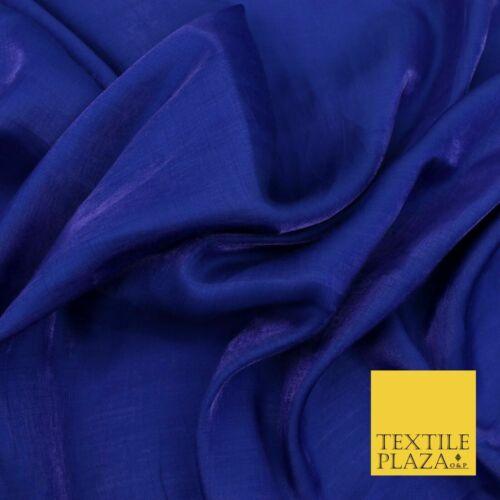 Brillo sedoso azul real suave suave poliéster forro de tela tejida Salwar 1493