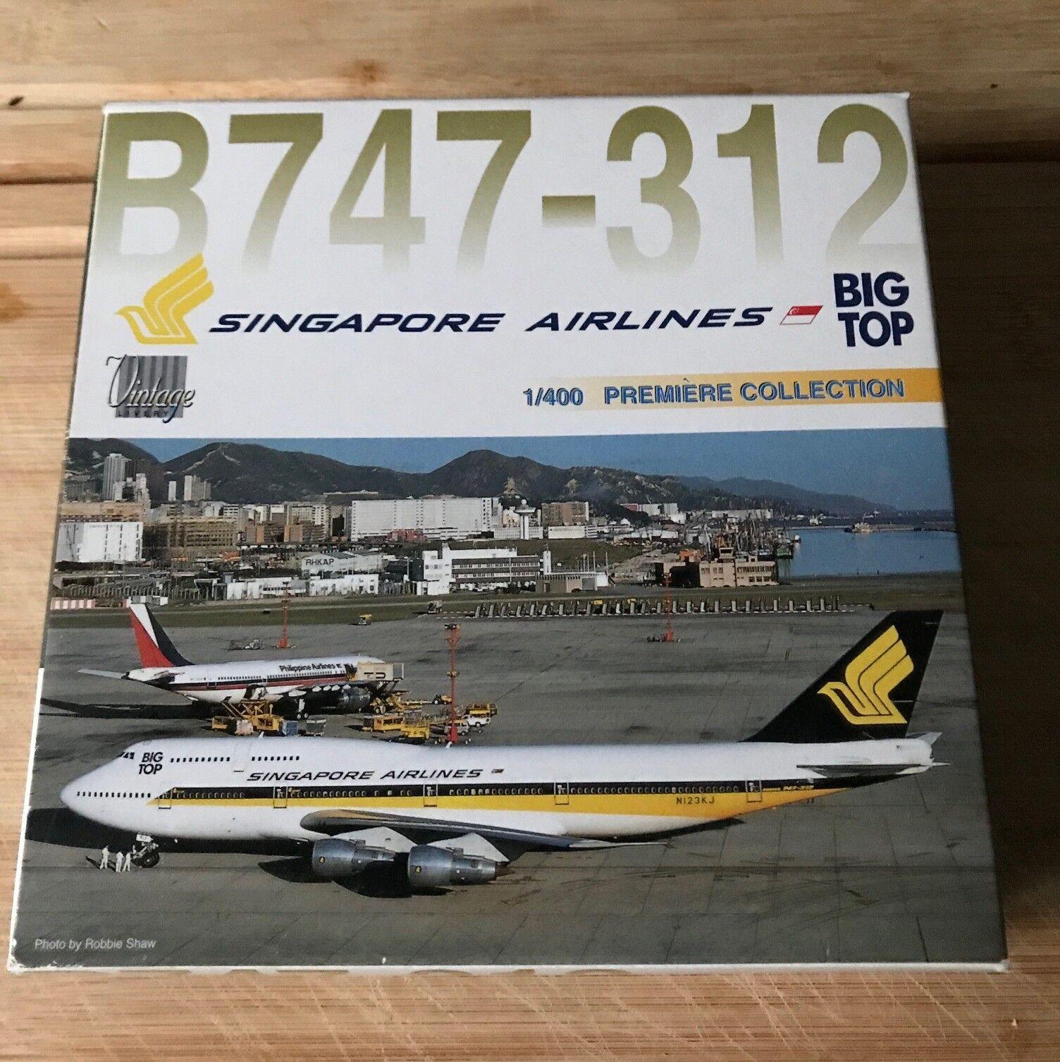 MIB Dragon Wings Singapore Airlines Boeing 747-312 (55123) 1 400 die-cast