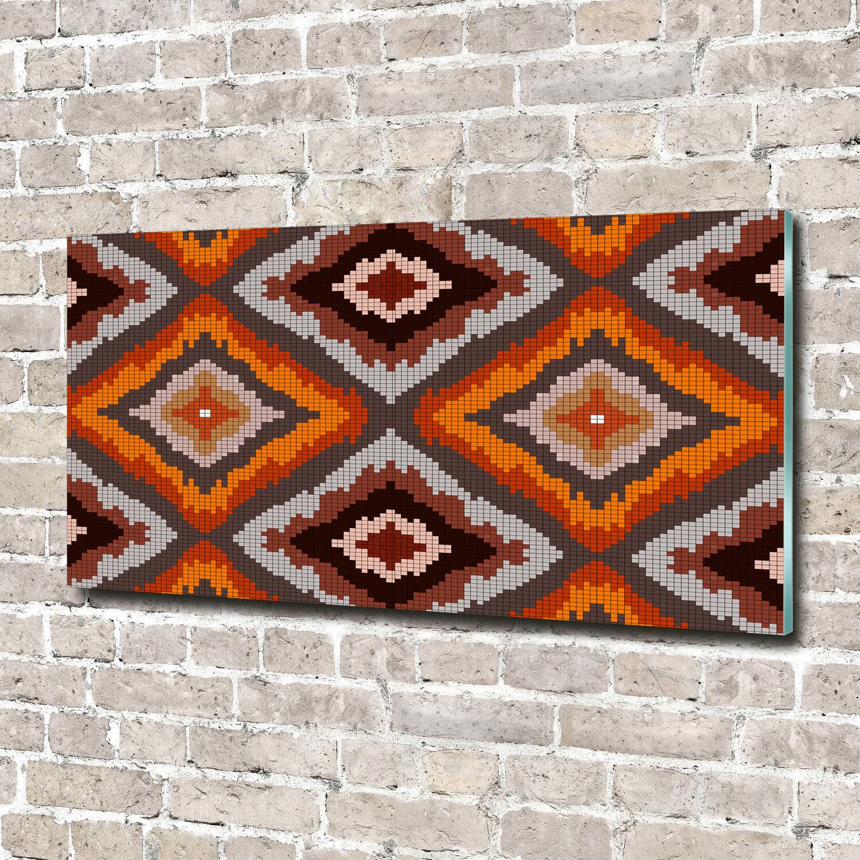 Glas-Bild Wandbilder Druck auf Glas 140x70 Deko Sonstige Retro Tribal