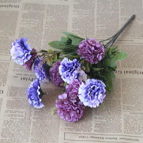 2 x Artificial Chrysanthemum Blooming Flowers Plant Party Decor Purple/&Blue
