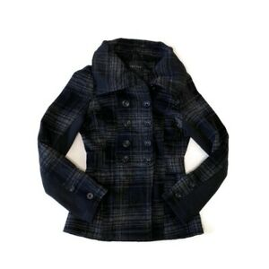 NWT-Therapy-by-Lane-Crawford-Pea-Coat-Medium-Black-Grey-Jacket