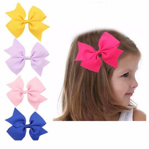 """50 BLESSING Good Girl Boutique 3.5/"""" Snowflake Hair Bow Clip FROZEN 192 No."""
