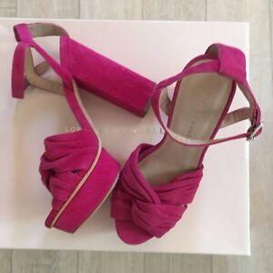 14e44f598691 LOEFFLER RANDALL Platform Sandals 36 38 39 40 41 Buckle Arbella Pink ...