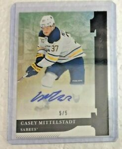 19-20-Upper-Deck-Artifacts-BLACK-AUTOGRAPH-Casey-Mittelstadt-D-ONLY-5-5-Sabres