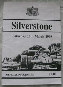 SILVERSTONE 13 Mar 1999 Sunbac Official Programme