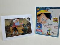Pinocchio Blu-ray/dvd + Digital Hd Disney Signature Collection Lithograph Wo