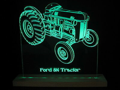Ford 8N Tractor LED Acrylic Edge Lit Sign + AC adapter + Remote Control
