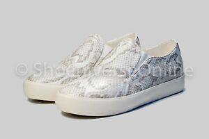 New Womens Ladies Snake Skin Trainers Slip On Casual Sneakers Shoes Size Uk 3-8