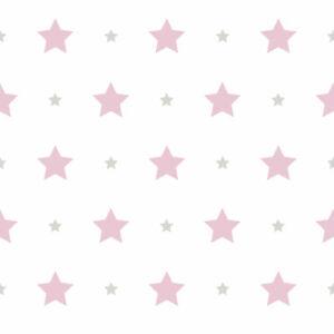 Tapete Kinder Sterne Stern weiß pink 330136 Rasch Textil Bimbaloo (2 ...