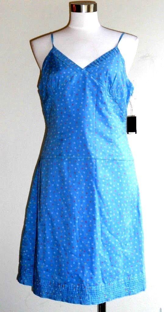 NWT Marc Jacobs cornflower bluee polka dot sun slipdress dress 10