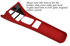 RED LEATHER FITS PORSCHE 944 968 86-95 CENTRE CONSOLE TUNNEL LEATHER COVER ONLY