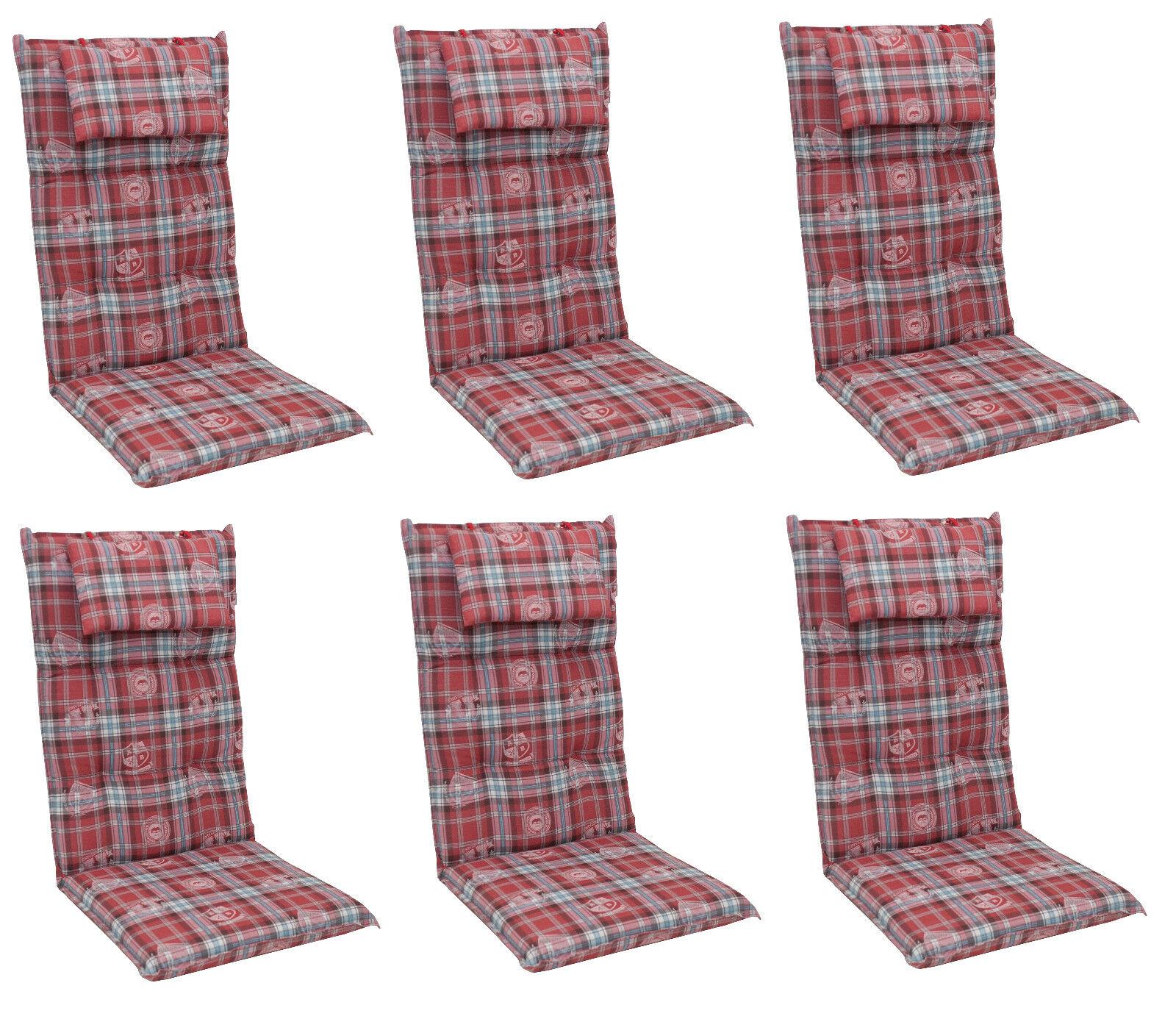 Luxus Gartenmöbel Hochlehner Sessel Auflagen Polster