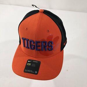 7a4490dfdef Nike Classic99 Clemson Tigers Flex Fit Baseball Hat Orange Black Paw ...