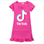 Kids-Girls-Tik-Tok-Nightdress-Short-Sleeve-Nightie-Skirt-Sleepwear-Nightwear-Top thumbnail 2