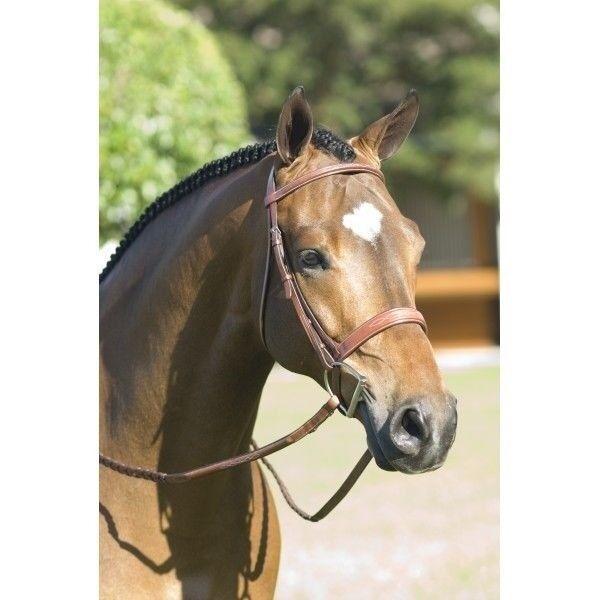 Pessoa Rodrigo Leather Fancy Wide Noseband English Snaffle Bridle