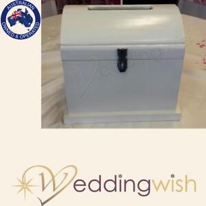 wedding wishing well small white wooden treasure chest wedding