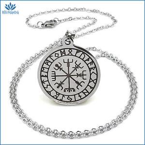 Amuleto magico talismano portafortuna celtico collana in acciaio uomo donna da a