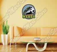 Black Mamba Venomous Snake Venom Africa Wall Sticker Interior Decor 22x22
