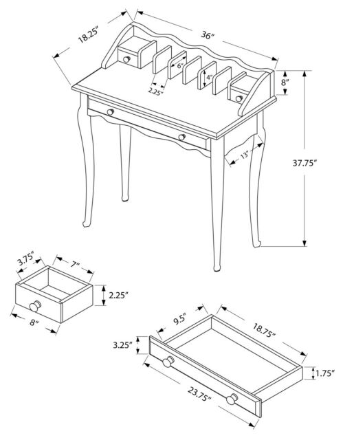 Diagram Of Desk