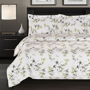 Fern-Duvet-Cover-Set-Fashionable-Floral-300-Thread-Count-100-Cotton