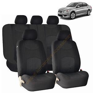 Honda Pilot Car Covers >> BLACK AIRBAG & SPLIT Bench SEAT COVERS 9pc SET for HONDA PILOT