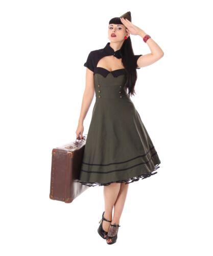 SugarShock Harbor 40er retro Military Swing Uniform Petticoat Bolero Kleid