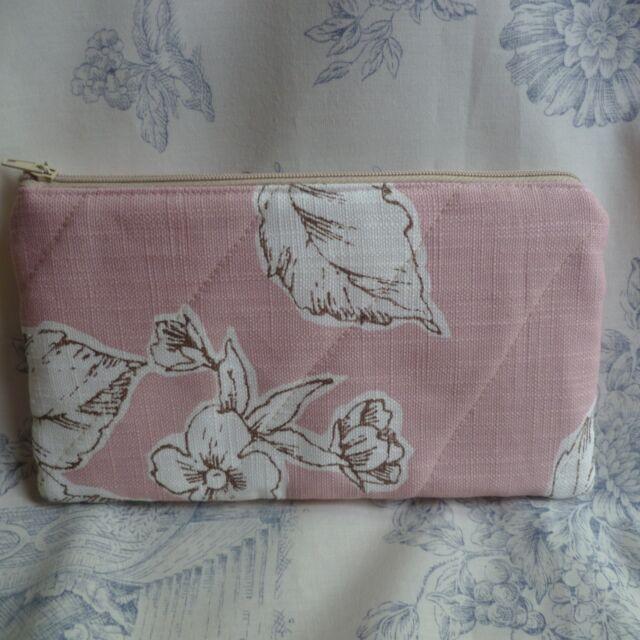 1No. Handmade Make-up Bag - made From Laura Ashley Fabric Summer Rose