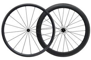 30MM-55MM-Carbon-Matt-Tubeless-Clincher-Wheelset-700C-Road-Bike