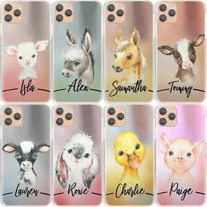 Personalised-Initial-Phone-Case-Pig-Horse-Duck-Hard-Cover-For-Samsung-S-Range