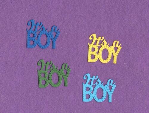 IT/'S A BOY # 3 die cuts scrapbook cards
