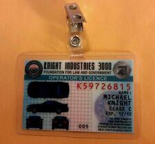Knight Rider ID Badge - Knight Industries 3000 Operator's License Michael Knight