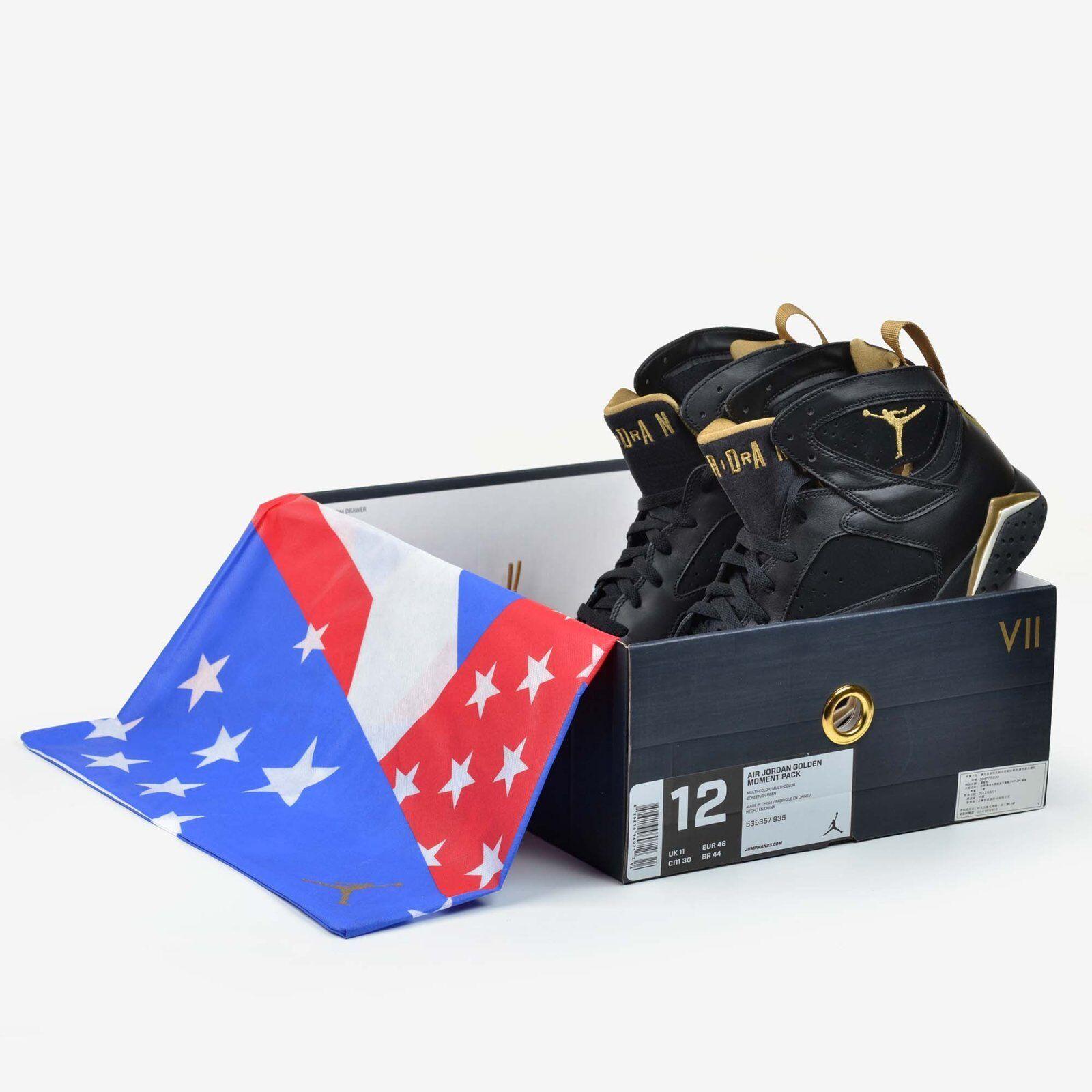Air Jordan 7 Retro Black Gold Size 12 Golden Moment Pack 2018 GMP DS 304775-003