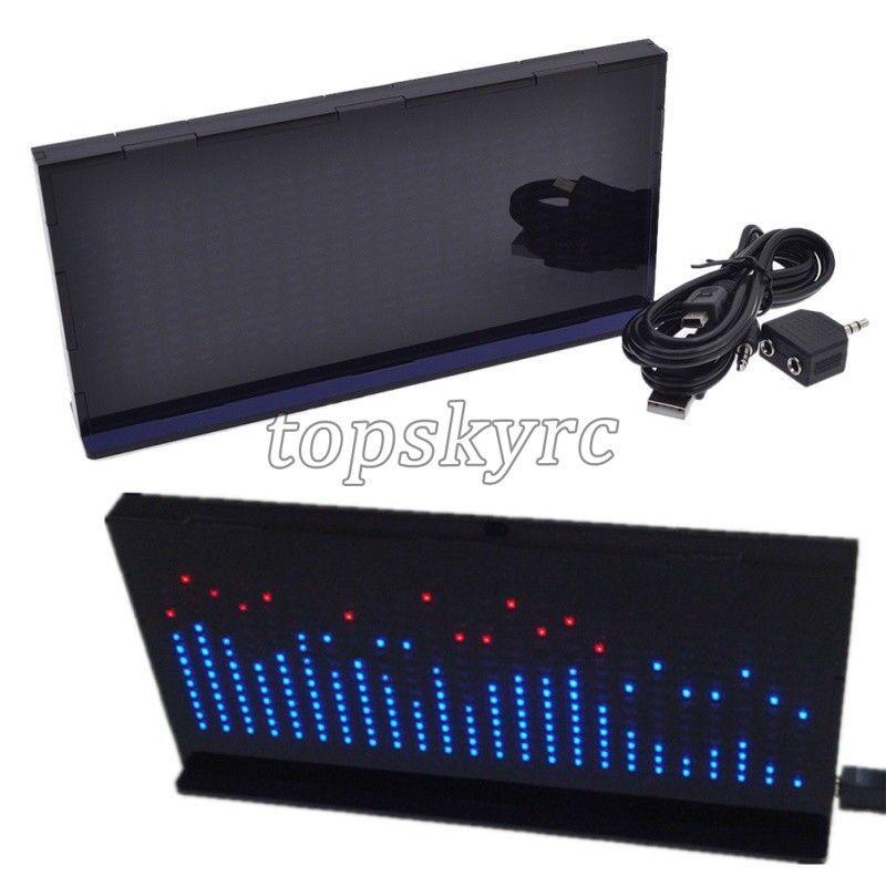 AS1424 Pantalla Led De Audio Digital Medidor Medidor Medidor de nivel de analizador de espectro de música ritmo 0162e8