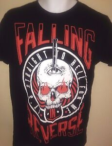 FALLING-IN-REVERSE-OFFICIAL-STRAIGHT-TO-HELL-FOR-ME-SMALL-T-SHIRT-ROCK
