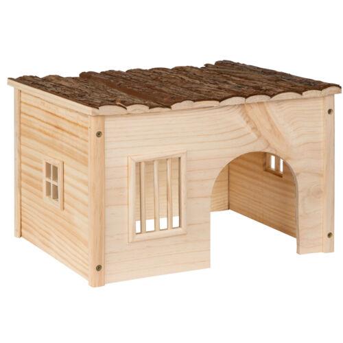 Maison Pour Rongeurs Abri Refuge Petit Animal Bois Hamster Lapin Chinchilla M